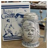 Babe Ruth beer stein with original box