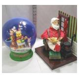 2 mechanical Christmas items Battery or electric