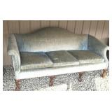 Claw and ball blue sofa