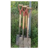 4 roofing shovels