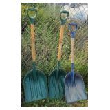 3 barn shovels