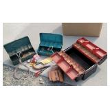 Tackle boxes, gardening, tools