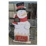 lit Snow man