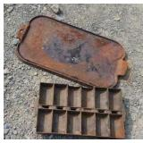 Cast iron muffin pan and Wagner griddle