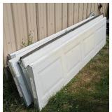 8x7 insulated garage door with Chamberlain door