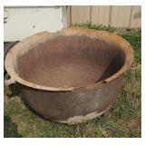 Large cast iron pot
