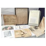 Box of misc ephemera including patriotic and