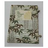 Book with fabric covering - flower arrangement