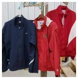 2 XL Cornell jackets and size large Nike jacket