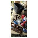Tub lot, tools, chain saw oil, trimmer line etc
