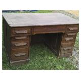 Oak desk - needs work