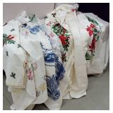 7 tablecloths some stains from being stored in a