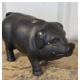 Fat cast iron piggy bank