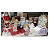 Cart#34 - bottom row only of collectible dolls