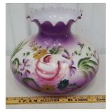Huge purple banquet lamp shade - 9 3/4 at base -