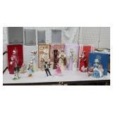 Cart 22 - top row Avon figurines pretty ladies
