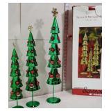 3 tin Christmas trees