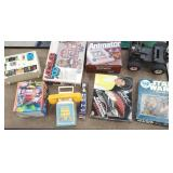 Group of toys including Star wars puzzle, Mr