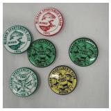 6 McGraw sportsman club pins