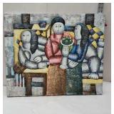 Oil on canvas - people