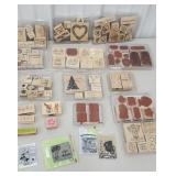 Box of scrapbooking and card making stamps