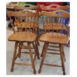 4x$ Set of 4 nice Oak bar stools