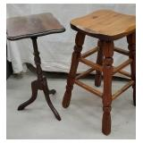 Chunky Stool and plant stand