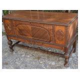 Cavalier cedar chest with a drawer  Some veneer
