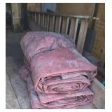 2 large heavy tarps