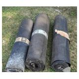 3 rolls felt paper