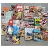 Box of nice cookbooks including the taste of