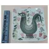 Arabia Finland chicken wall hanging plate