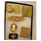 Group of ladies compacts and pill boxes