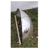 Large convex security mirror