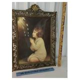 Bowed glass brass frame print - made in Italy