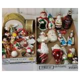 2 boxes of Figural Christmas ornaments including