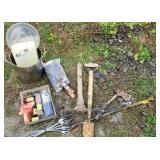 Group lot trap wax, garden tools, lure scent etc