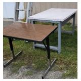 2 industrial work tables