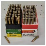 1 Remington, 1 Winchester 22 hornet both full NO