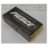 Partial box with brass Pierce 45acp ammo 	 NO