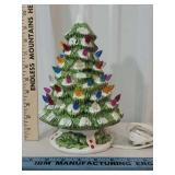 1 piece light up ceramic Christmas tree