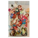 Box of fun retro Christmas ornaments