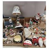 2 boxes miscellaneous Christmas including
