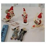 3 early Santa clauses including mechanical bird