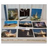 9 space shuttle Columbia liftoff laser photo