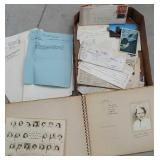 Box of misc ephemera including Lakeview hospital