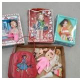 Box of miscellaneous dolls