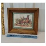 Pretty pheasant print in a deep frame