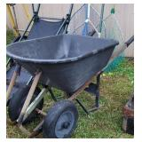 2 wheel plastic wheelbarrow  needs tube