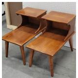 Pair cushman maple syrup down end tables